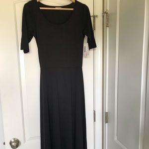 NWT LuLaRoe black Ana maxi dress